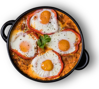 Poached Eggs In Tomato Sauce With Homemade Merguez (Shakshouka)